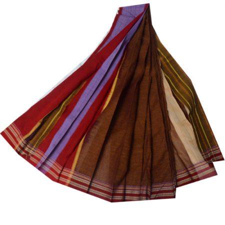 Ilkal Pure Cotton Plain Saree